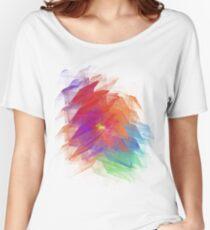 Apophysis Fractal Design - Enhanced Rainbow Flower  Women's Relaxed Fit T-Shirt
