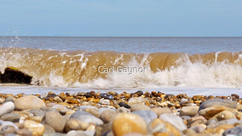The North Sea,East Coast - Sizewell  (Triptych) by Carl Gaynor