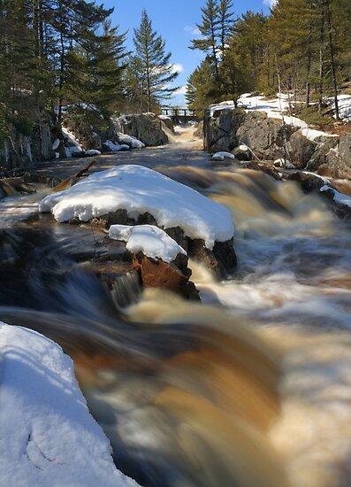 Spring Snowmelt at Cataract Dam Falls by Daniel Brown