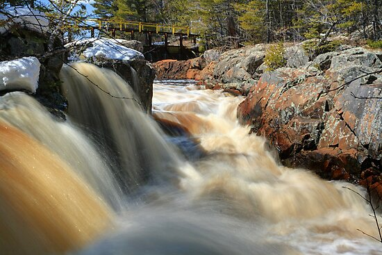 Upper Cataract Dam Falls During the Spring Snowmelt by Daniel Brown