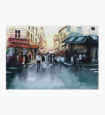 The crowd - Watercolor Photographic Print