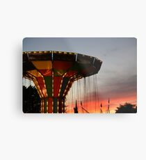 Carnival Ride and Sunset Metal Print