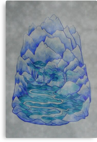 Earthscape One Print  by scholara