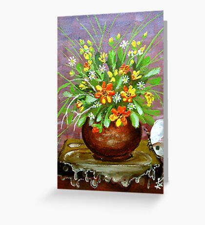 irrigate flowers  Greeting Card