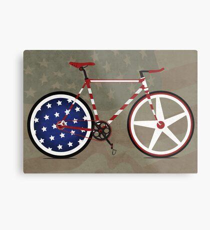 I Love My American  Bike Metal Print