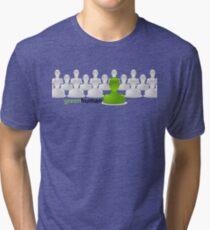Green Human Tri-blend T-Shirt