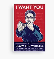 Edward Snowden I Want You Canvas Print