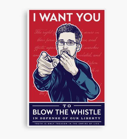 Edward Snowden I Want You Canvas Print