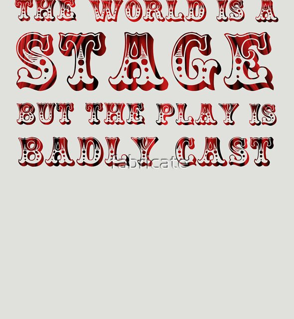 Oscar Wilde - The World is a Stage by fabricate