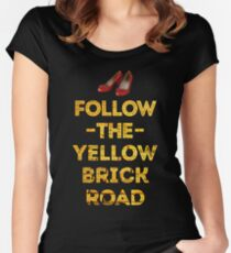 Camiseta entallada de cuello redondo Sigue el camino de ladrillos amarillos