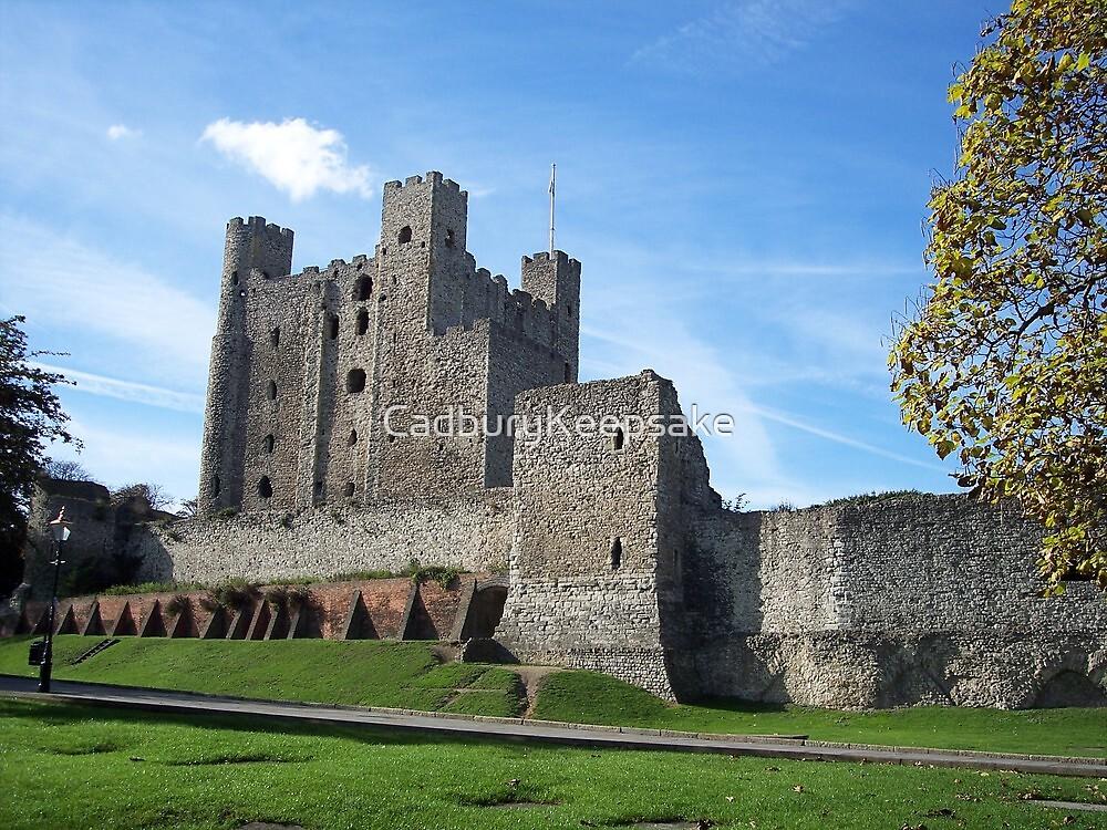 Rochester Castle in England by CadburyKeepsake
