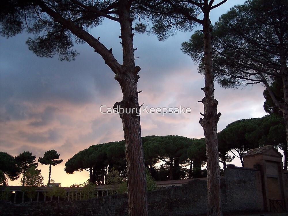Sunset in Pompeii, Italy by CadburyKeepsake