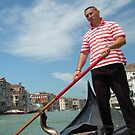 Gondolier, Venice by MikeSquires