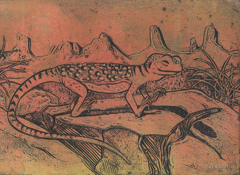 Happy Little Collared Lizard by SnakeArtist