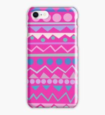 Mayan - Teal/Hot Pink/Lilac iPhone Case/Skin