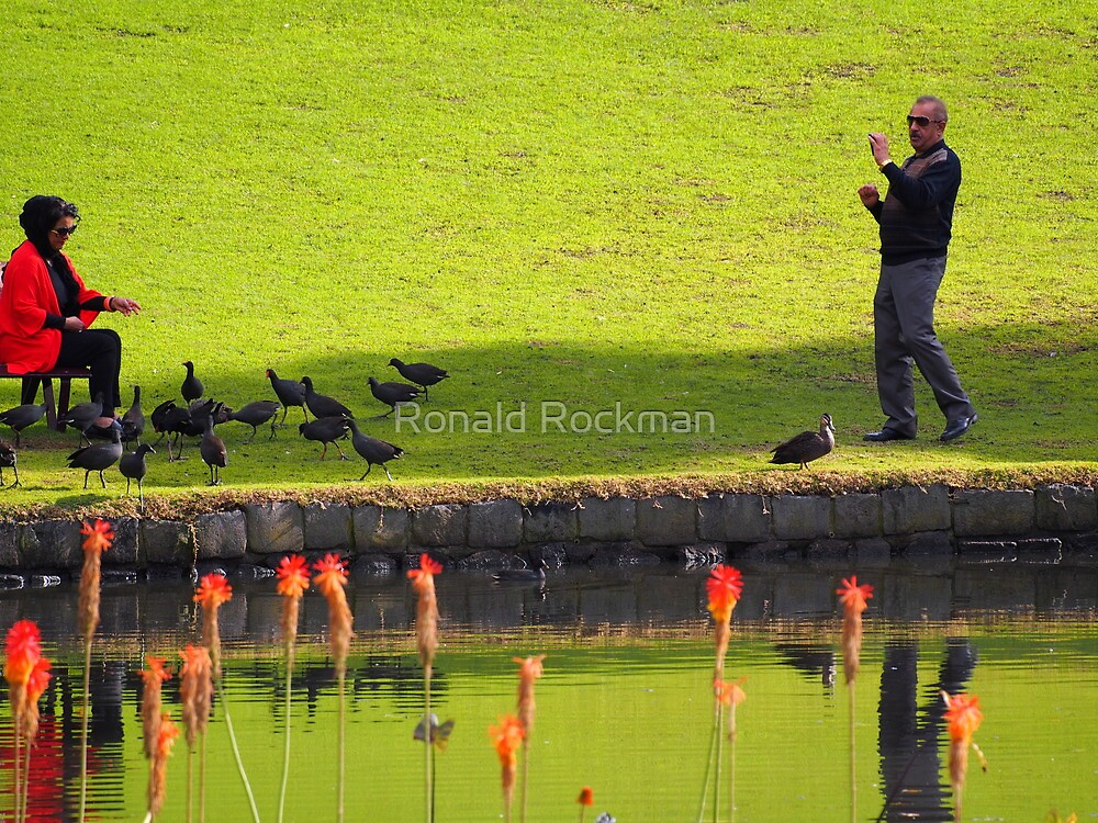 Candid Shot Across The Lake by Ronald Rockman