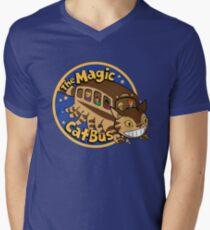 The Magic Catbus Men's V-Neck T-Shirt