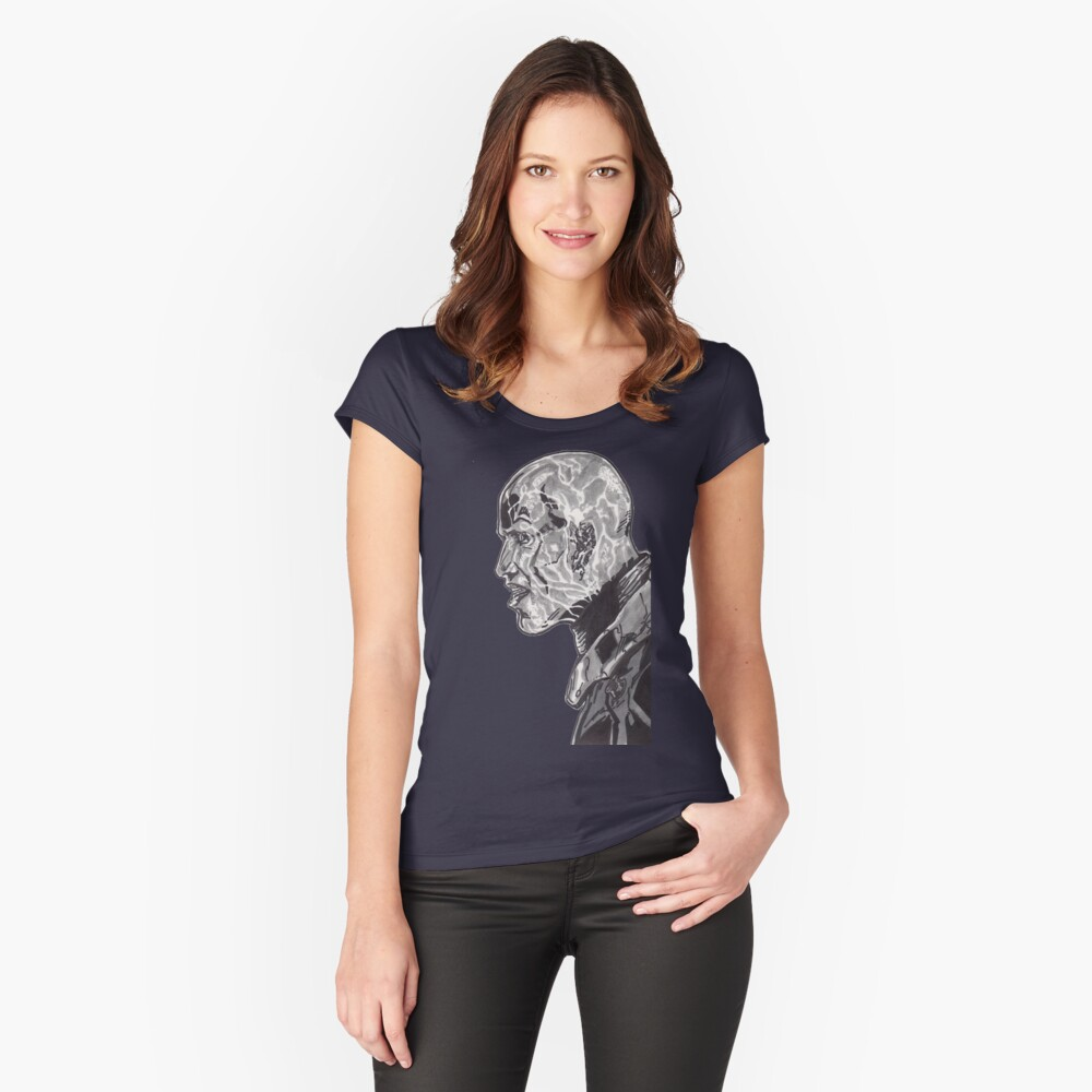 Electro Shcok Therapy Tee Women's Fitted Scoop T-Shirt Front