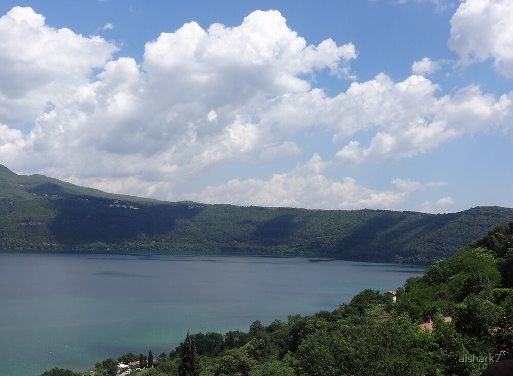 View of Lake Albano, south of Rome, Italy by alshark7
