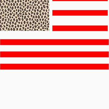 Leopard American Flag by robo52