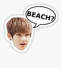 V BTS BEACH Sticker