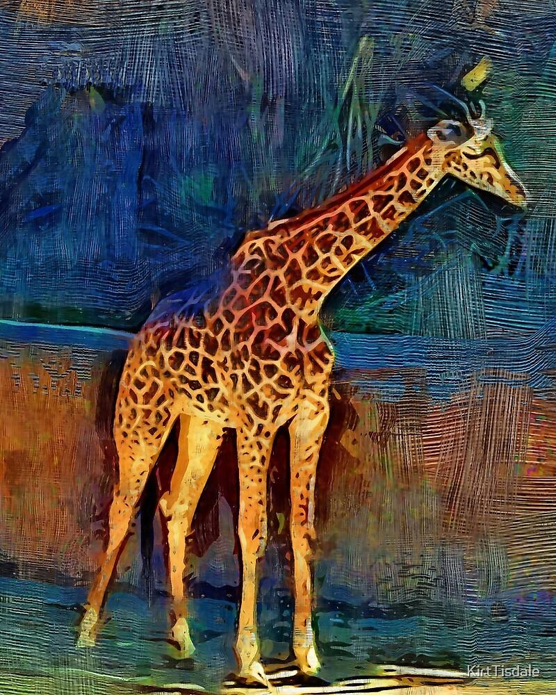 LA Zoo Giraffe by KirtTisdale