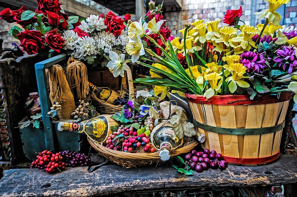 Still Life On Sicilian Cart by TonyCrehan