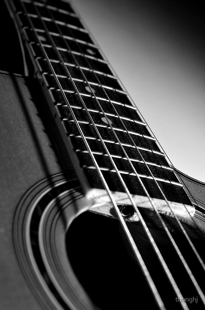 Black and White Guitar by thonghj
