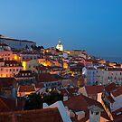 Lisbon City Lights Panoramic Alfama View by kirilart