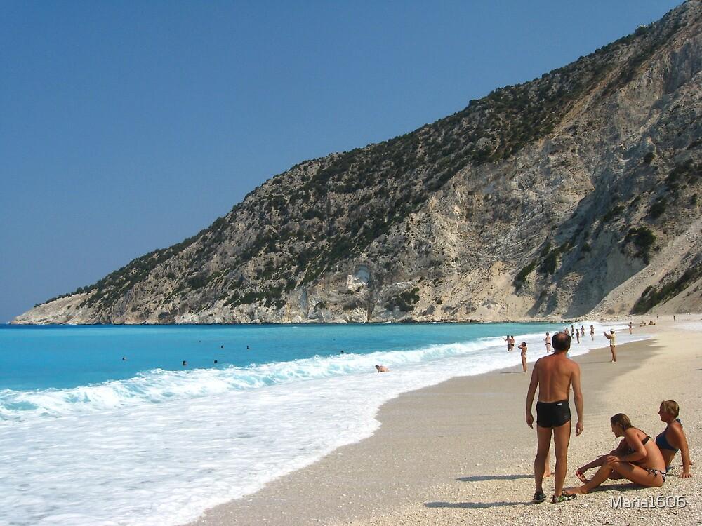 Summer at Myrtos beach by Maria1606