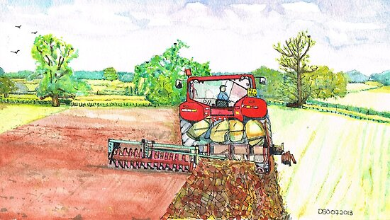 The Big Red Tractor by doatley