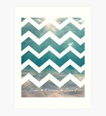 Summer Chevron Art Print