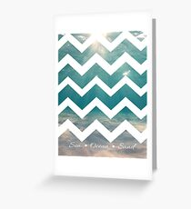 Summer Chevron Greeting Card