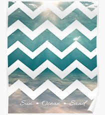 Summer Chevron Poster