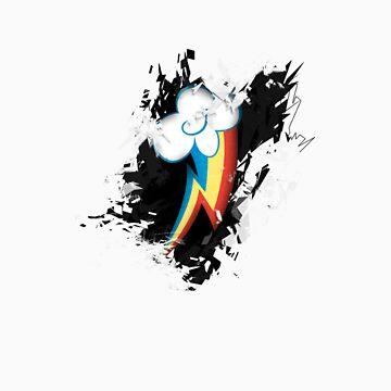 Rainbow Dash Grunge Cutie Mark by Dashmagic