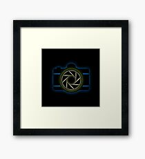 Glowing camera  Framed Print
