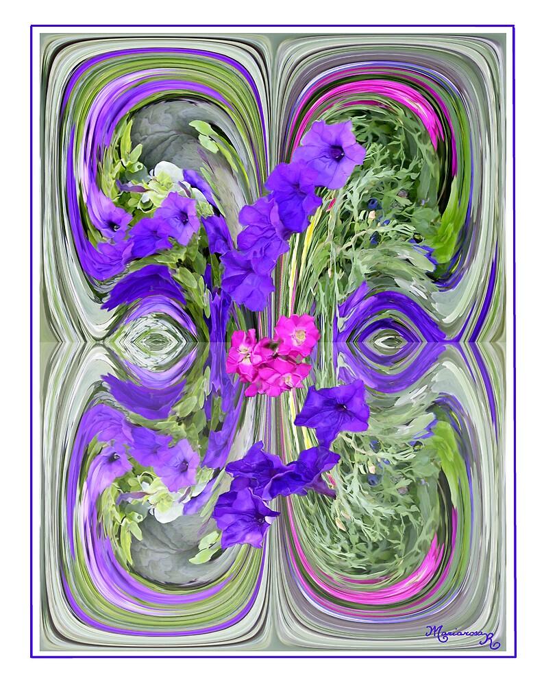 Purple Petunias by MariarosaR