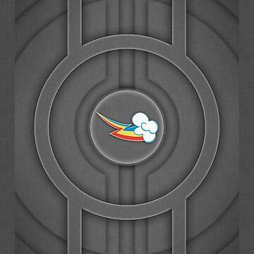 Rainbow Dash Tech Cutie Mark for iPhone/iPod by Dashmagic