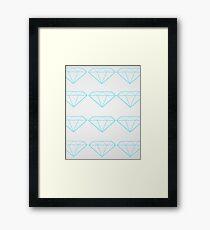 Diamonds are a Girl's Bestfriend Framed Print