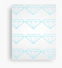 Diamonds are a Girl's Bestfriend Metal Print