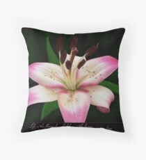 Live is the flower Throw Pillow