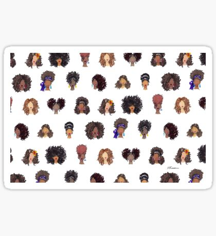 How To Be Curly Allover Sticker