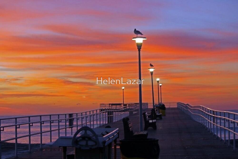 The Pier at Dawn by HelenLazar