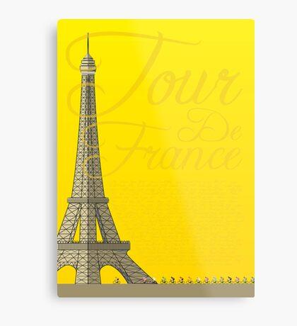Tour De France Eiffel Tower Metal Print