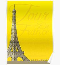 Tour De France Eiffel Tower Poster