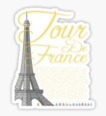 Tour De France Eiffel Tower Sticker