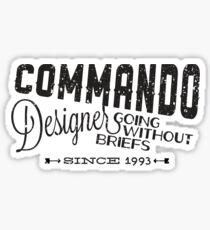 Commando Designer Sticker