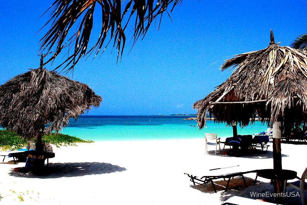 Beach Umbrellas Aruba by WineEventsUSA