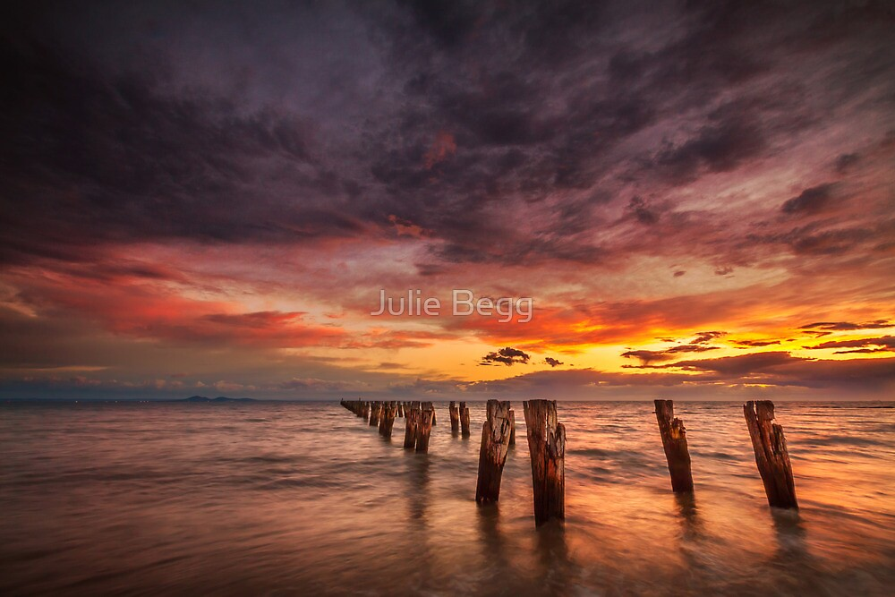 Sunrise at Clifton Springs, Victoria by Julie Begg