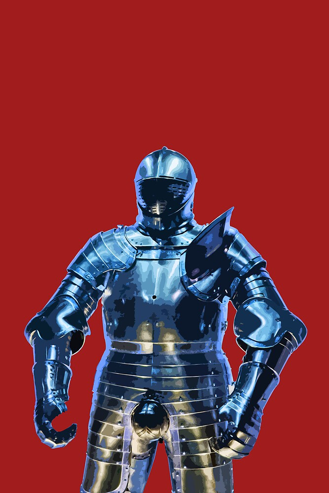 Blue Knight Stencil by dapedwa